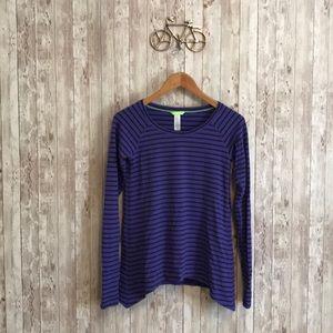 Lululemon Ivivva purple striped long sleeve tee